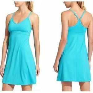 Athleta Shorebreak Blue Swim Dress Small